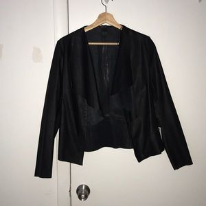 Leather babe! Feminine lightweight jacket NWT